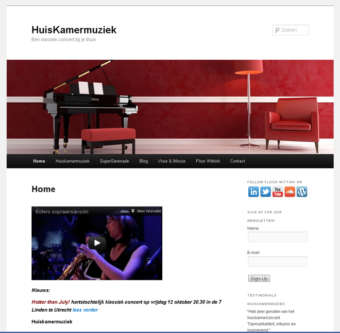 WordPress website huismakermuziek.nl